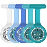 Orologio da infermiera con spilla, modello: Fob, lancette fosforescenti al buio, impugnatura in silicone con spilla, tascabil