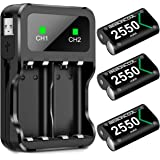 BEBONCOOL Batteria Ricaricabili per Xbox One/Xbox Series X/Xbox Series S Controller ad Alta capacità 2550mAh, PRO Pile Batter