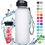 """720°DGREE Trinkflasche """"uberBottle"""" +Früchtebehälter - 1,5L - BPA-Frei - Wasserflasche für Sport, Fitness, Outdoor, Wandern - Große Sportflasche aus Tritan - Leicht, Nachhaltig"""