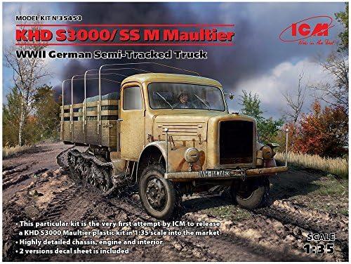 ICM 35453 modèle Kit khd S3000/SS M Mule WWII GerFemme GerFemme GerFemme Semi de Tracked Truck | être Dans L'utilisation  615541