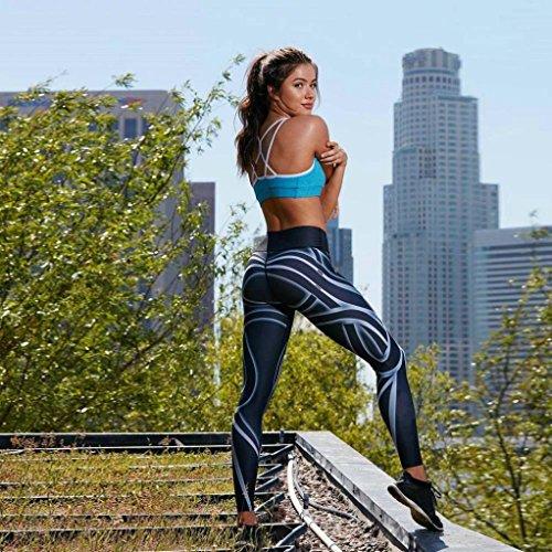 Donne Sport Palestra Yoga Allenamento A Metà Vita In Esecuzione Pantaloni Fitness Elastico Leggings Donne Elastico Sporting Fitness Legging Slim Pantaloni Palestra Workout Leggings Morwind Nero