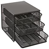 Best Safco Home Organizers - Safco 3275BL Onyx Mesh Hospitality Organizer with 3 Review