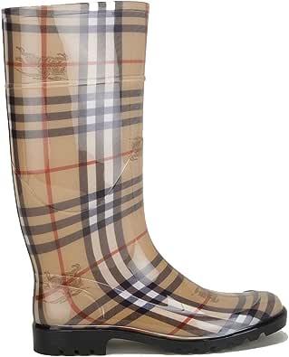 Burberry Stivali Donna 3829467 Gomma Marrone: Amazon.it