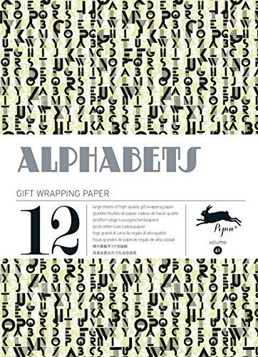Alphabets, Volume 41. Grandes feuilles de papier cadeau de haute qualit.