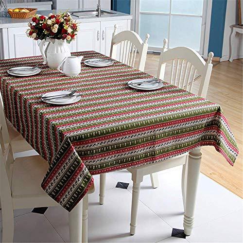 SONGHJ Polyester Baumwolle Weihnachtstischdecke Rechteck Rote Tischdecke Dekoration Weihnachtsbaum Elch Halloween Party Tischdecke B - Übergröße Maus Kostüm