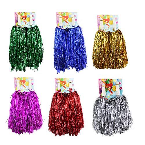 (1 Dutzend Cheerleading Pompons, CRIVERS 12pc Cheerleader Pompoms für Ball Tanzen Schick Kleid Nacht Party Sports (Mischfarben))