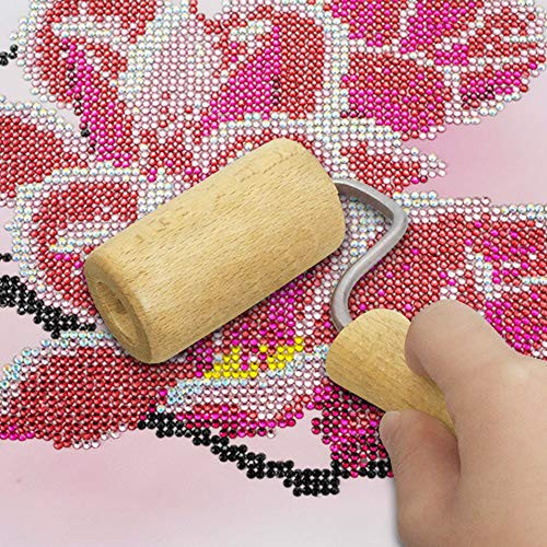 - Lnova 5D Diamond Painting Wood Roller Diamond Painting Tool for Rolling Diamond Beads Tightly Paste and Flat Durable Wooden Roller for DIY Rhinestone Embroidery Cross-Stitch Painting (1pc) Stitch