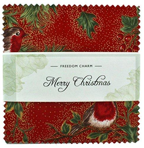 Stoff Freiheit Merry Christmas Freiheit Charme, mehrfarbig