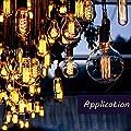 STARRYOL Vintage Decken Pendelleuchte Kit, Messing-Lampenfassung, Fit für E27-Schrauben-Birne, ideal für Küchen, Essbereich, Bar, Coffee Shop, Wohnzimmer, Restaurants