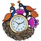 PEACOCK BIRD WALL CLOCK BY KK CRAFT| WALL CLOCK FOR HOME| ANALOG WALL CLOCK| DESIGNER WALL CLOCK