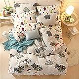 Warmsun 200X230CM 1,5 -1.8M Cama doble de la cachemira Coral calor en invierno algodón Momao forros 4 juegos de cama serie de moda personalizada