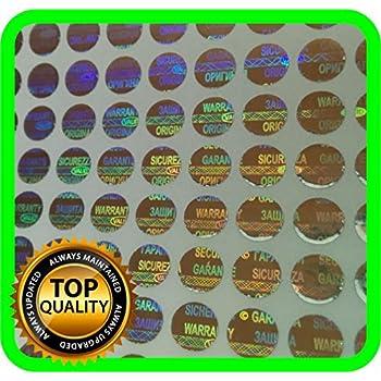 1200 St. Hologramm Etiketten, Siegel, Garantie, Aufkleber