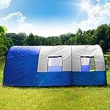 TecTake Tunnelzelt 3000 mm Wassersäule Campingzelt Familienzelt Gruppenzelt Camping Zelte 4 - 6 Personen Wasserdicht -