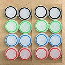Youji® 4 paires / 8 PCS Replacement Silicone Analog Controller Joystick Luminous Thumb Stick Grips Caps Cover pour PS4 PS3 PS2 Xbox One / 360 Game Controller