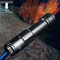 ORCATORCH D520 Taucher Taschenlampe 1000 Lumen wiederaufladbare Tauchleuchten