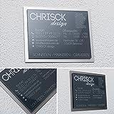 Designer Hausnummer Namensschild mit Gravur versch. Farben 20x16 cm Türschild
