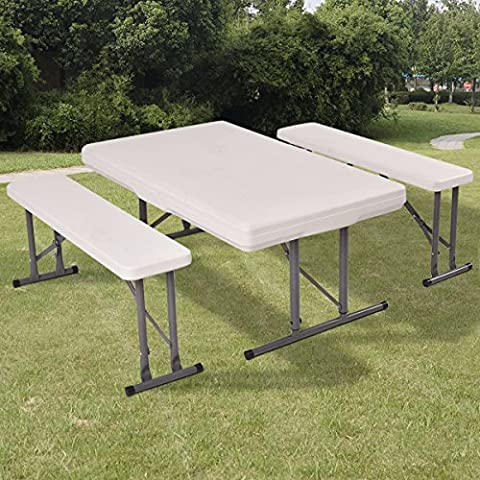 Costway Folding Picnic Table & Bench Set Garden Furniture Camping Party Patio Outdoor