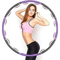 Aiweite Hula Hoop Reifen, Hula Hoop für Erwachsene & Kinder zur Gewichtsabnahme und Massage, EIN 6-8-Teiliger…