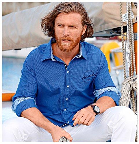 JAN VANDERSTORM Herren Karohemd BOLKE in Übergröße Große Größen Plus Size Big Size XL XXL XXXL 4XL 5XL 6XL 7XL 8XL 9XL 10XL Blau