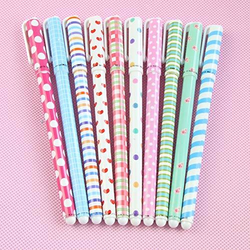 RHardware,10 penne gel, punta fine da 0,5 mm, 10 colori, graziosi articoli di cancelleria, regalo ideale per bambini