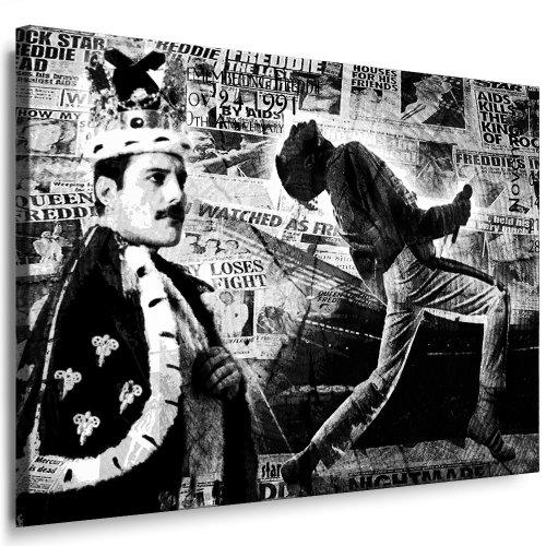 Freddie Mercury - Queen Leinwandbild Bild fertig auf Keilrahmen ! Pop Art Gemälde Kunstdrucke,...