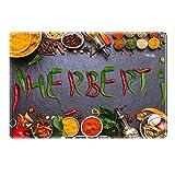 Tischset mit Namen ''Herbert'' Motiv Chili - Tischunterlage, Platzset, Platzdeckchen, Platzunterlage, Namenstischset