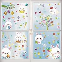 Adesivi Coniglietto Pasquale, Adesivi Uovo di Pasqua, Adesivi Pasqua Finestre, Decorazioni per Finestre Porta di Pasqua…