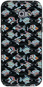 The Racoon Lean printed designer hard back mobile phone case cover for Samsung Galaxy A5 (2017). (Black Orna)