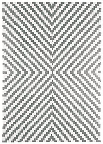 Modern Designer carpet OUSE Rug 160x230 cm ON01 Geo Grey Grey 100% cotton