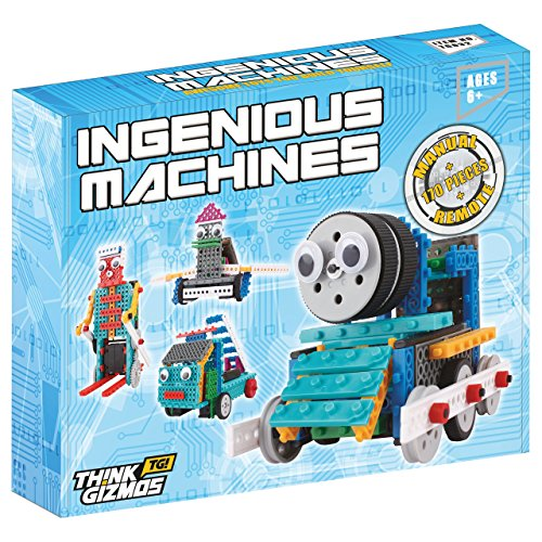 Construct Your Personal Robotic Toys For Children – Ingenious Machines Distant Management Robotic Constructing Equipment – TG632 Superior Enjoyable Robotic Equipment & Development Toy by ThinkGizmos (All batteries included) Worth