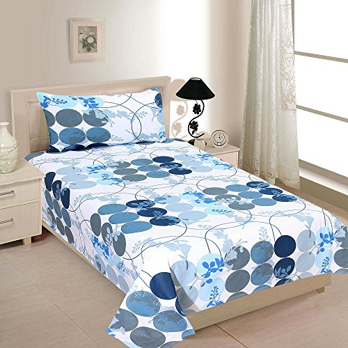 Zesture Bring Home Premium 144 TC Cotton Single Bedsheet with...