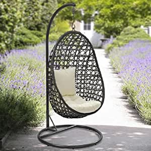 cocoon hanging chair and cushion garden outdoors. Black Bedroom Furniture Sets. Home Design Ideas