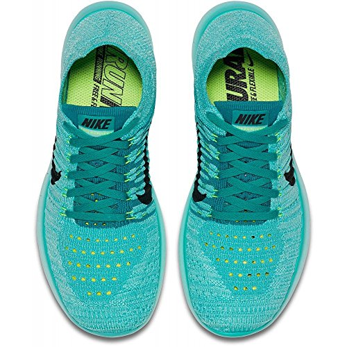 Nike Free Rn Flyknit, Chaussures de Running Compétition Femme Turquoise (Hyper Turquoise/Black/Volt/Teal)