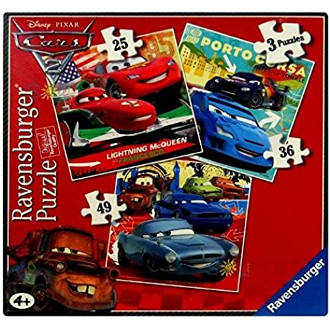 Ravensburger 7222 Disney Cars 2 - Puzzles (3 unidades, 25, 36 y 49 piezas)