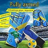 Children Soccer Goalkeeper Sports Kinder/Jugendliche Basic Fußball Torwart/Spieler Handschuhe + Beinschutz S1014
