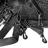Deuba® Netz Sicherheitsnetz Trampolin ✔ Ø 244 cm ✔ inkl. Karabinerhaken ✔ UV-beständig ✔ Außenbefestigung ✔ optimaler Schutz - Trampolinnetz Trampolinschutz - 2