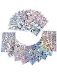eBoot 288 Pièces 96 Designs Autocollants à Ongles Stencils à Ongles pour Nail Art Design, 24 Feuilles