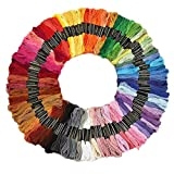 #8: iCraft RN281 Cotton Embroidery Thread Set (Multicolor, Pack of 100)