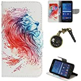 PU Cuir Coque Strass Case Etui Coque étui de portefeuille protection Coque Case Cas Cuir Swag Pour( Samsung Galaxy Core Prime G530, G530H G530FZ G531F +Bouchons de poussière (13LO)