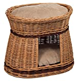 Prestige Wicker 2-Tier Pet Basket with Super Soft Cushions