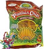 [ 10x 85g ] TROPICAL GOURMET Bananen Chips [ naturally sweet ( Süß ) ] aus Ecuador + ein kleines Glückspüppchen - Holzpüppchen