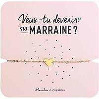 Bracelet Marraine Coeur | Acier Inoxydable | Veux-tu Devenir ma Marraine ? | Bracelet d'annonce Naissance, Bracelet de…