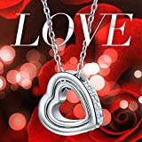 Kami Idea Necklace Women Love You Forever Engravd Heart Pendant Crystals from Swarovski Birthday Anniversary Wedding Jewellery Gifts Wife Mother Daughter Girlfriend Bild 1