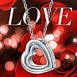 "Pauline & Morgen ""LOVE YOU FOREVER"" Engraved SWAROVSKI ELEMENTS Crystal Heart Women Necklace Bild 1"