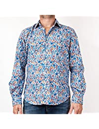 Serge Blanco - chemise serge blanco liberty bleu