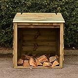 en bois à bûches avec couvercle à charnière pour un accès facile