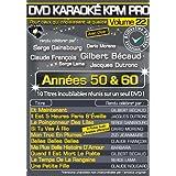 DVD Karaoké KPM Pro Vol. 22 Les Années 50 & 60