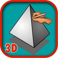 how to draw 3D step by step