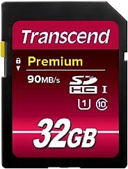 Transcend TS32GSDU1 SDHC-Speicherkarte Klasse 10 UHS-I (Premium), Übertragungsrate 90 MB/s