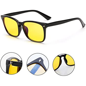 d5aa2c7017 VOSO Blue Light Blocking Gaming Glasses Anti Glare Yellow Lens Eyewear for  PC Laptop Gamer Computer Reading